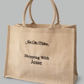 Shopping With Jesse – Large Jute Bag