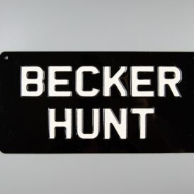 Becker Hunt Vintage Pressed Wall Plate