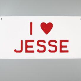 I ❤️ Jesse Vintage Metal Wall Plate