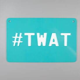 Teal #Twat Vintage Pressed Wall Plate