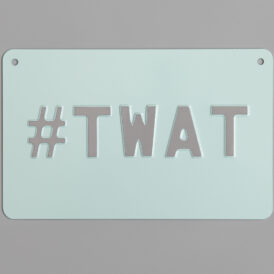 Mint & Grey #TWAT Vintage Wall Plate