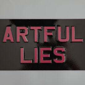 Artful Lies Vintage Pressed Wall Plate