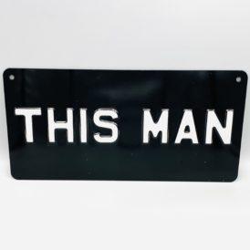This Man Metal Vintage Wall Plate