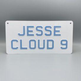 Jesse Cloud 9 Metal Vintage Wall Plate