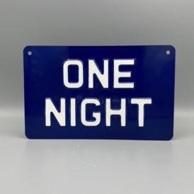 One Night Metal Vintage Wall Plate