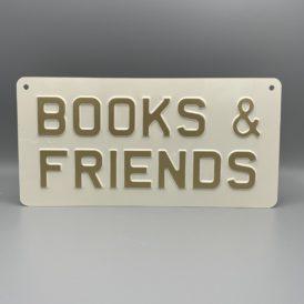 Books & Friends Metal Vintage Wall Plate