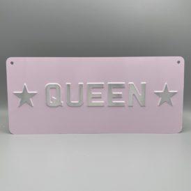 Queen Metal Vintage Pressed Wall Plate