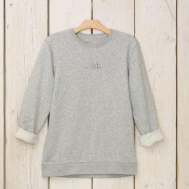 Light Grey Organic Cotton Lightweight Sweater