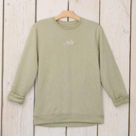 Soft Sage Organic Cotton Lightweight Sweater