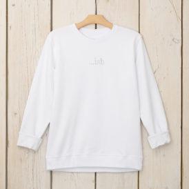 White Organic Cotton Lightweight Sweater