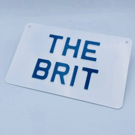 The Brit Blue Vintage Pressed Wall Plate