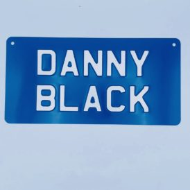 Danny Black Vintage Pressed Wall Plate
