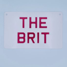 THE BRIT Red Vintage Pressed Wall Plate