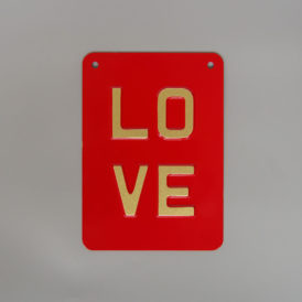 Gold LOVE Vintage Pressed Wall Plate