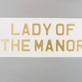 Lady Of The Manor Vintage Pressed Wall Plate