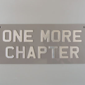 One More Chapter Metal Vintage Wall Plate