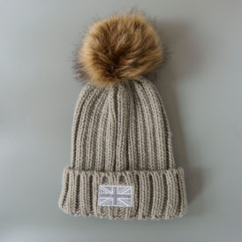 The Brit Pom-pom Chunky Knit Hat