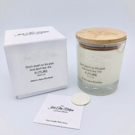 LUXE Edition – DWELL Artful Aqua Blossom Handmade Soy Blend Candle