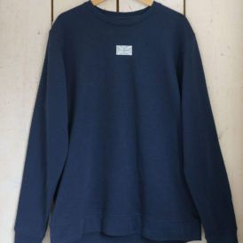 The Brit Navy Organic Cotton Lightweight Sweater