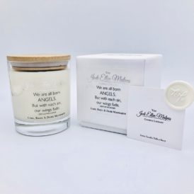 LUXE Edition – ANGELS Lime, Basil & Mandarin Handmade Soy Blend Candle