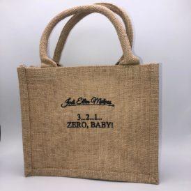 3…2…1…Zero, Baby Mini Jute Shopper Bag