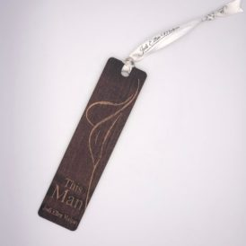 This Man Autographed Wooden Bookmark