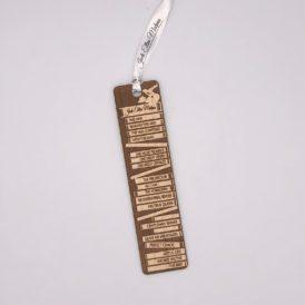 JEM Book Shelf Autographed Wooden Bookmark