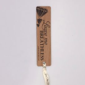 Leave Me Breathless Autographed Wooden Bookmark